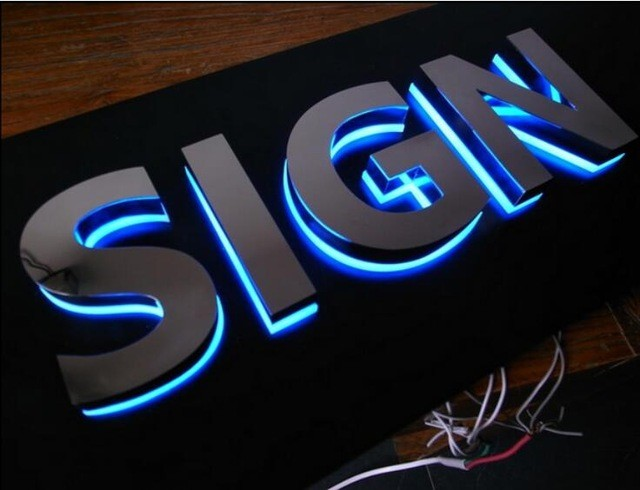 3d Led Letters Custom Metal Acrylic Letters Outdoor Signs.jpg 640x640 پیشینه تابلوسازی مدرن در ایران