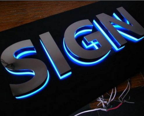 3d Led Letters Custom Metal Acrylic Letters Outdoor Signs.jpg 640x640 495x400 تابلو مغازه